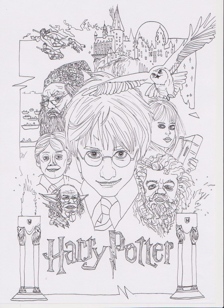 Harry Potter And The Philosophers Stone Coloring Pages