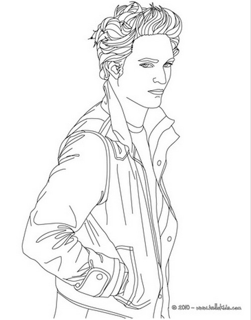 Edward Cullen Coloring Page Coloring Home