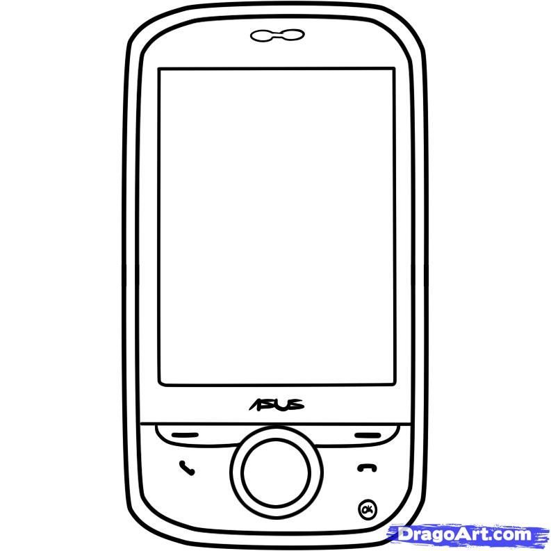 Cell Phone Coloring Pages - Coloring Home