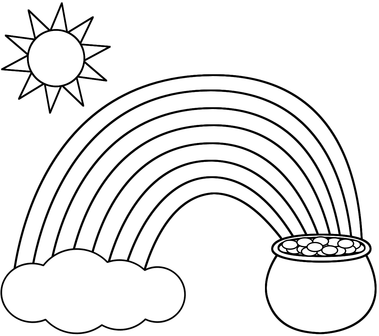 Rainbow and rain coloring pages - Free Printable Coloring Pages Of Rainbow Barriee