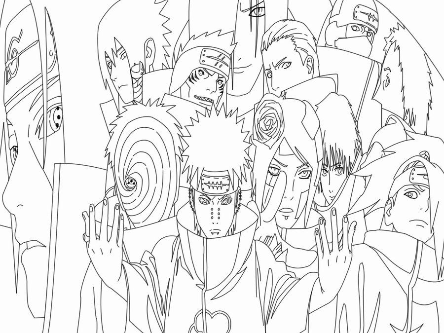 Naruto Shippuden Tobi Coloring Pages (Page 2) - Line.17QQ.com