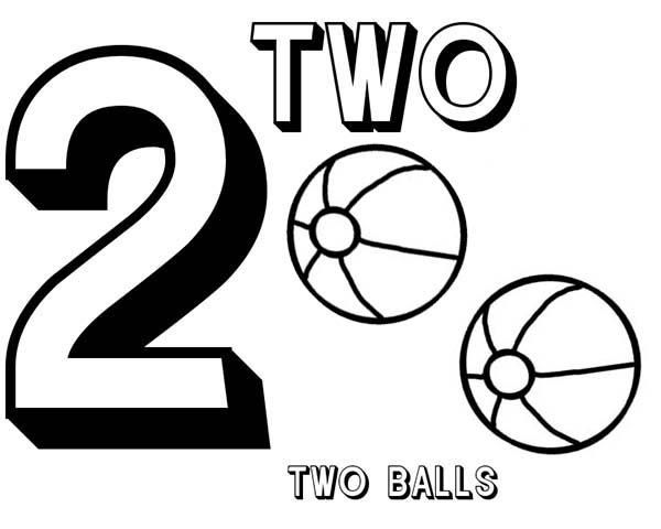 Learn Number 2 With Two Basketball Coloring Page | Coloring pages, Coloring  pages for kids, Fathers day coloring page