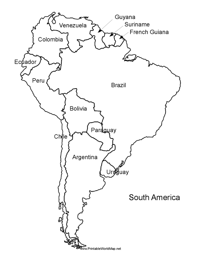 South America Map Coloring Pages - High Quality Coloring Pages