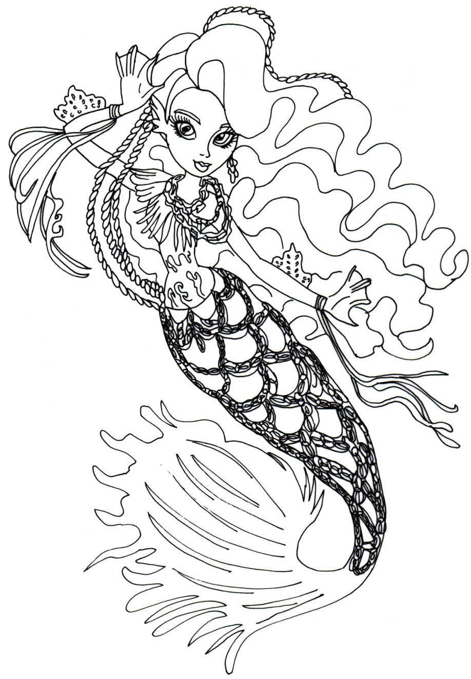 Monster High 13 Wishes Coloring Pages Free Monster High Coloring ...