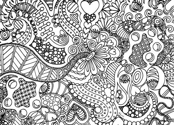 very hard coloring pages teens - photo#3