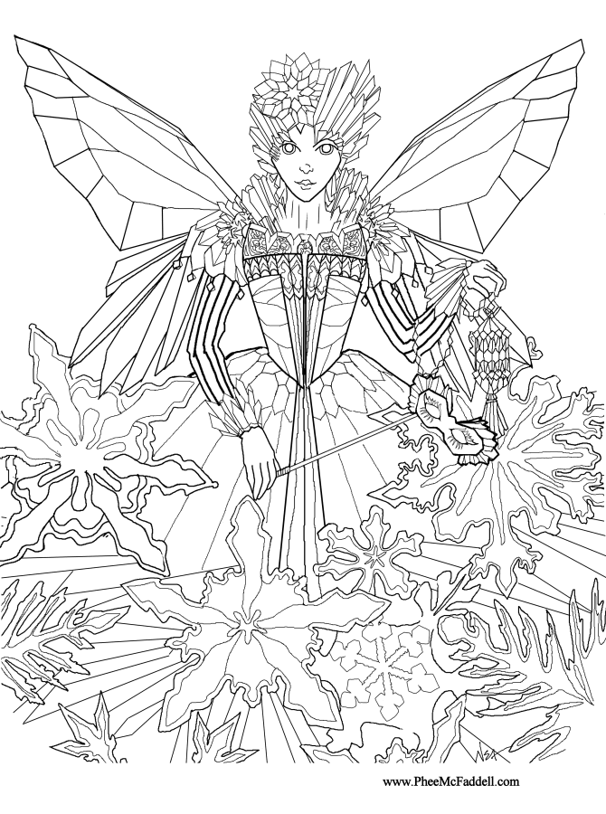 Coloring Pages Princess Fairies : Coloring page fairy princess home