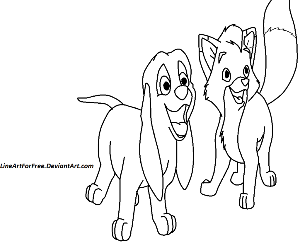 fox and hound coloring pages - photo#19
