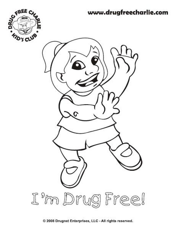 no to drugs coloring pages - photo#21