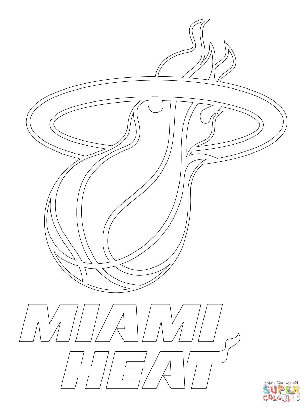 Miami Heat Logo coloring page