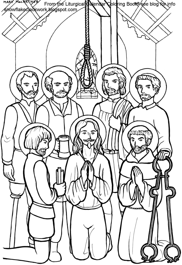 coloring saints pages for kids - photo#22