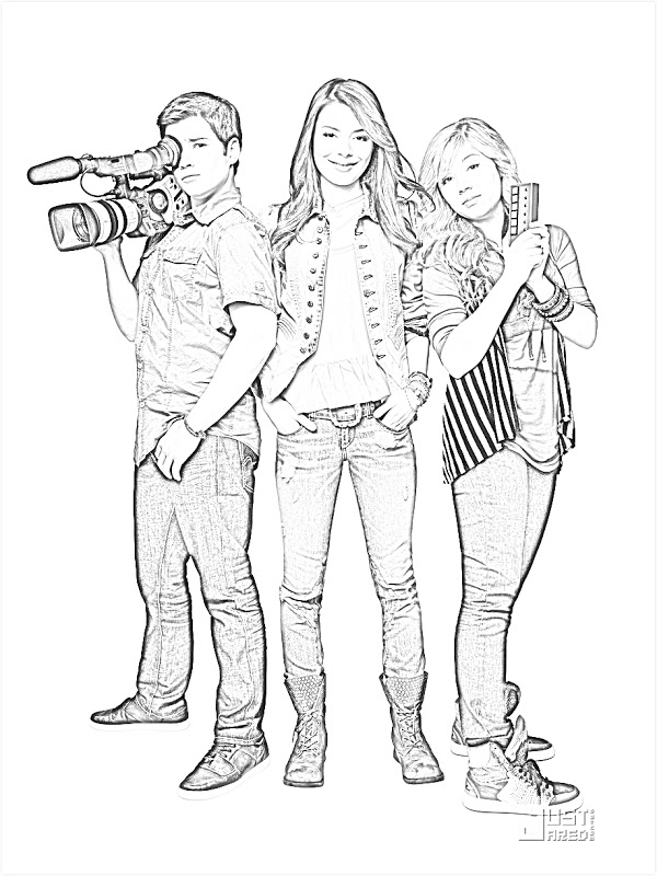 Icarly coloring pages ~ Sam Cat Nickelodeon Coloring Page Coloring Pages