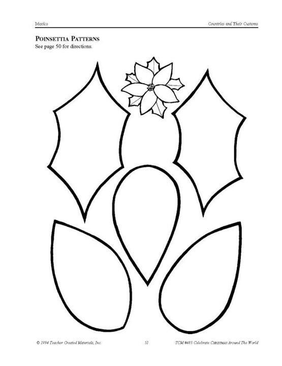 picture regarding Poinsettia Pattern Printable known as Poinsettia Flower Printable Template - Coloring Household