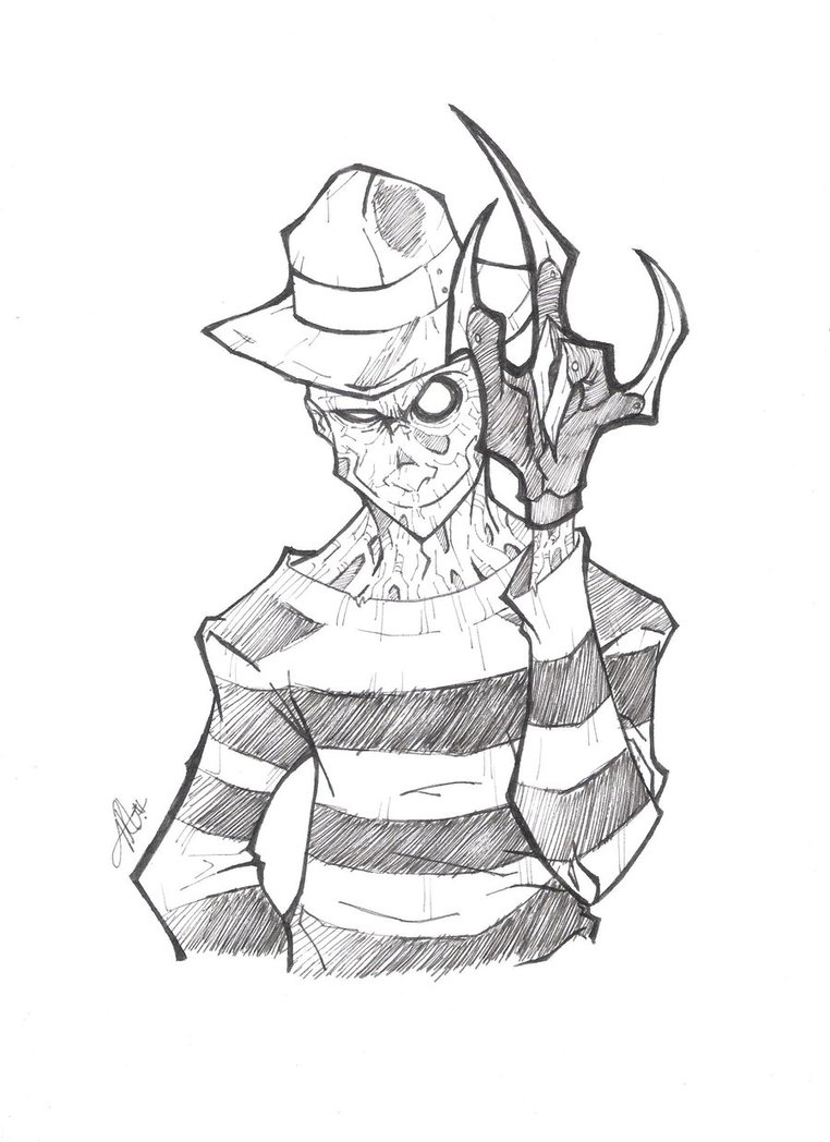 Freddy krueger coloring pages coloring home for Freddy coloring pages