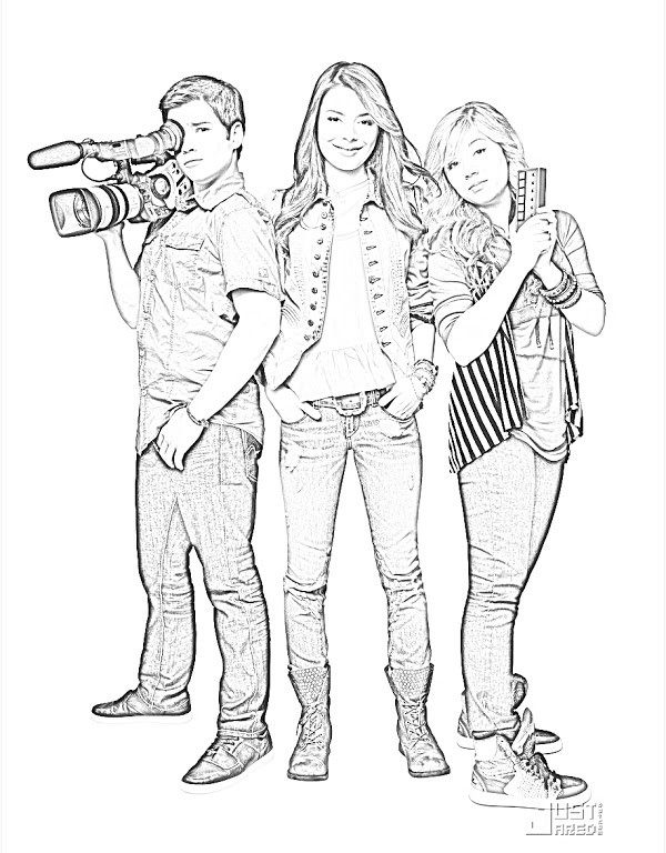 icarly coloring page