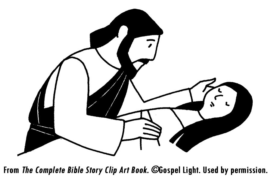 Jesus Heals The Sick Coloring Page