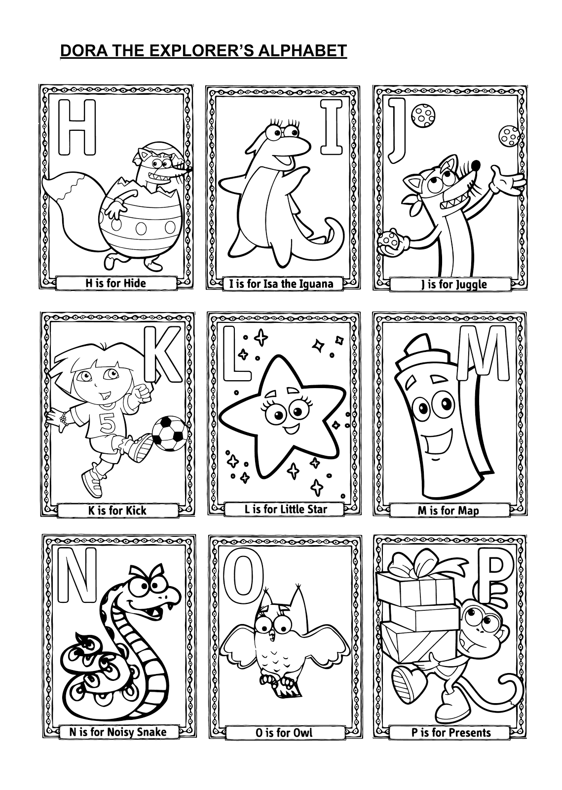 coloring pages dora map - photo#27