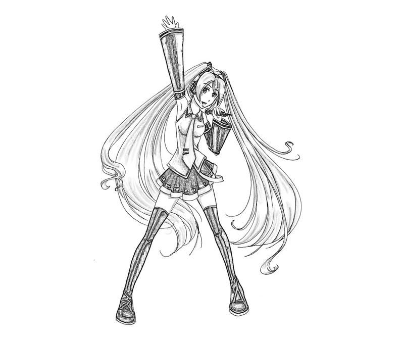 hatsune miku coloring pages - photo #23