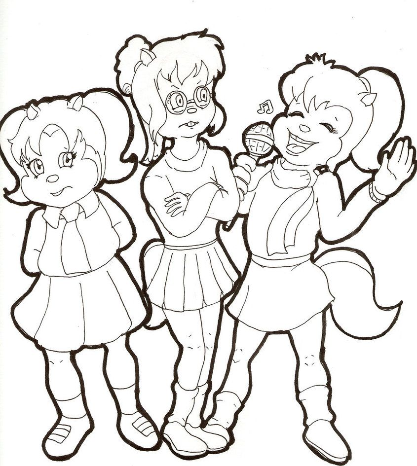 the chipettes coloring pages free - photo#32