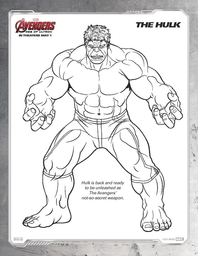 Ausmalbilder The Avengers: Ultron Coloring Pages