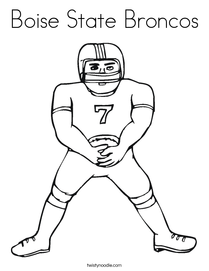 Boise State Broncos Coloring Page - Twisty Noodle