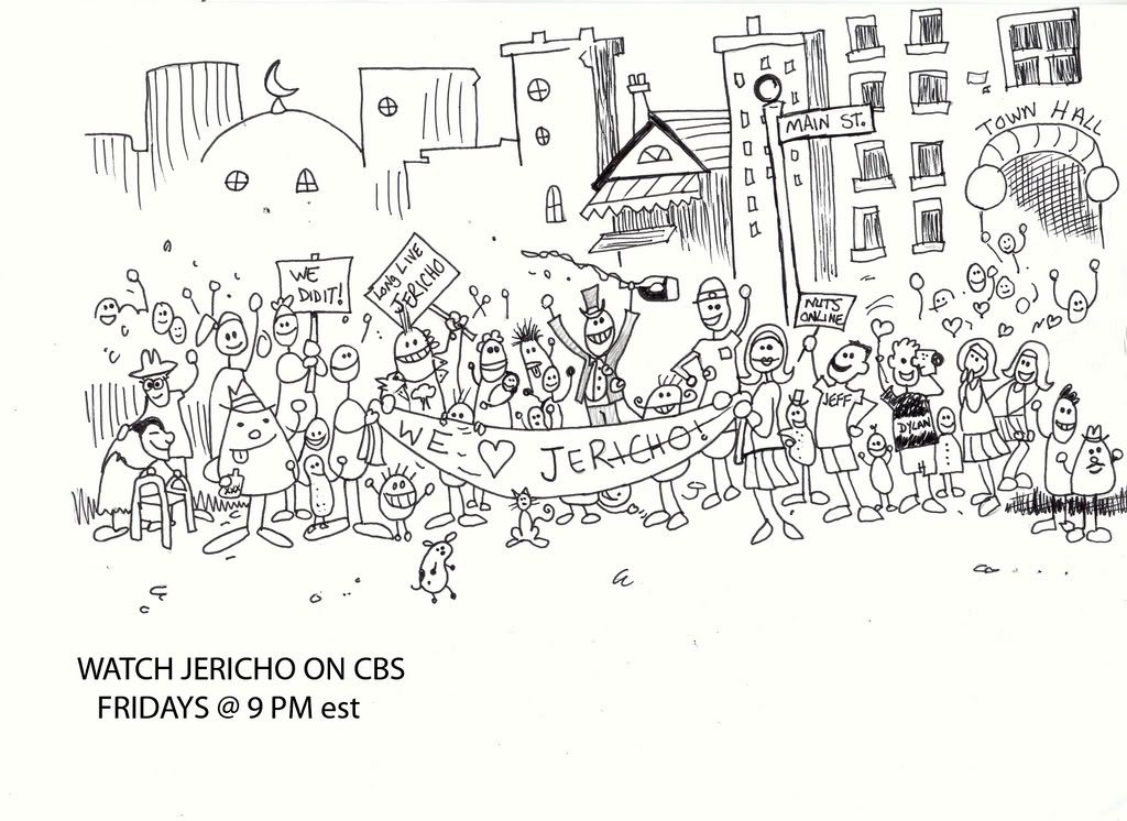 Walls Of Jericho Coloring Page