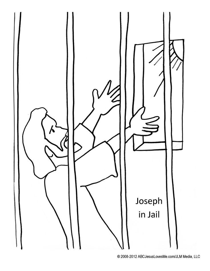 coloring pages joseph in jail - photo#2