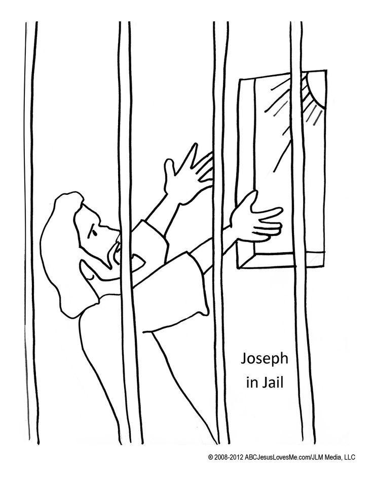 8 pics of joseph in prison coloring page color page joseph in