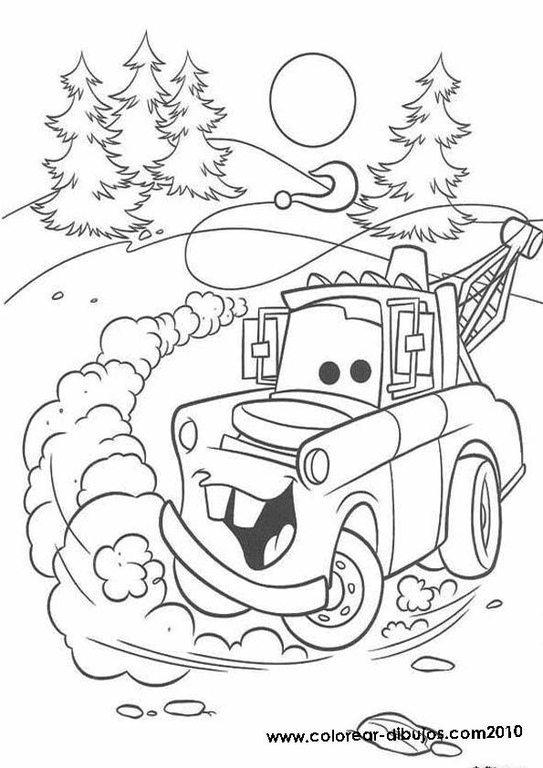 Disney Cars Christmas Clipart.Cars Christmas Coloring Pages Coloring Home