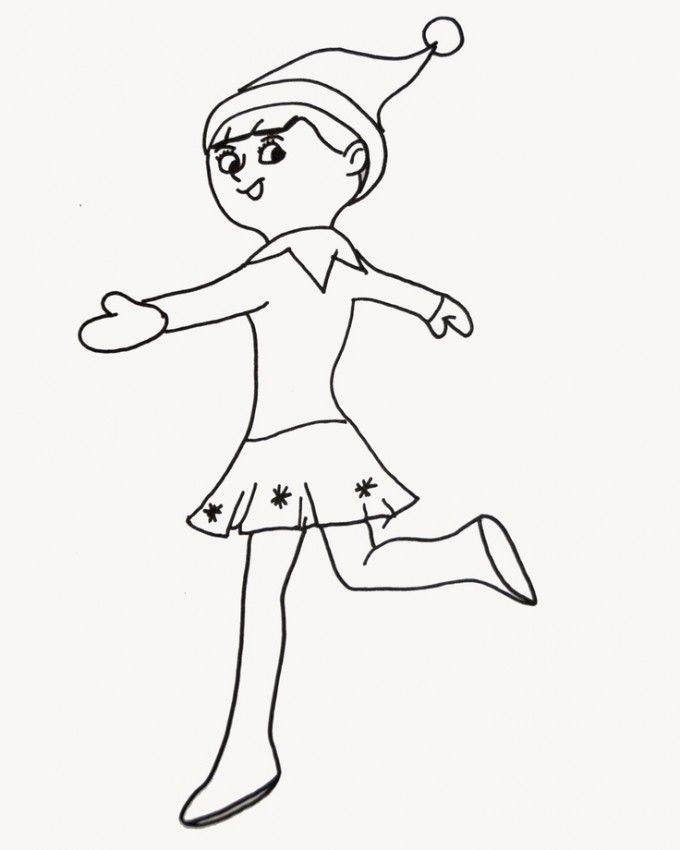 coloring pages girl elf - photo#21