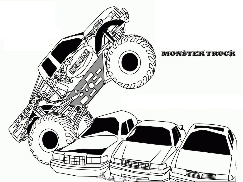 Free Printable Monster Jam Coloring Pages Coloring Home