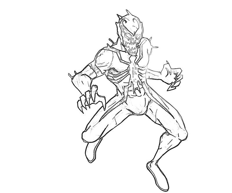 Anti Venom Spiderman Coloring Pages