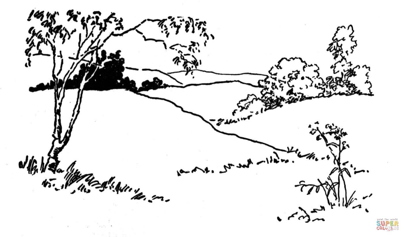 Free coloring pages landscapes - Landscape Coloring Page Free Printable Coloring Pages