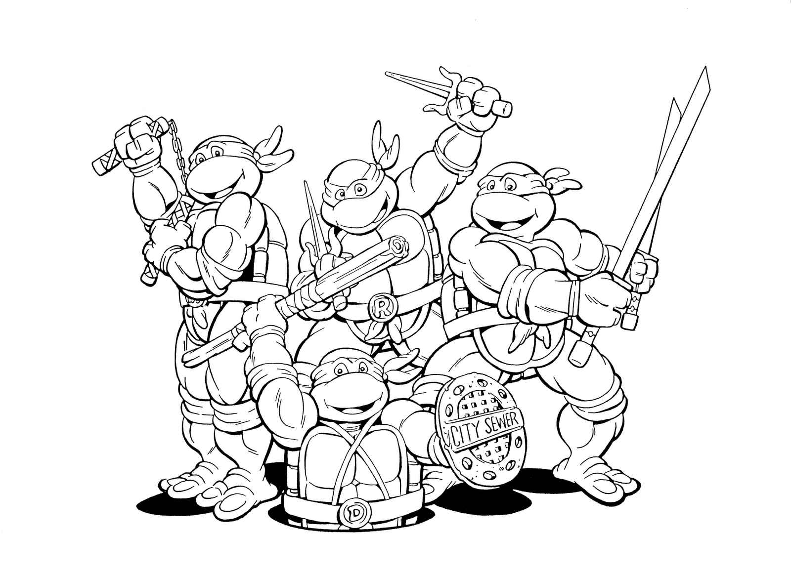 Teenage Mutant Ninja Turtles Coloring Pages Printable You Will ...