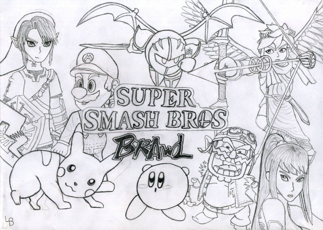 Smash Brothers Coloring Pages Coloring Home Smash Bros Brawl Coloring Pages