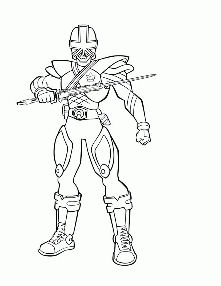 blue power ranger coloring pages - photo#32