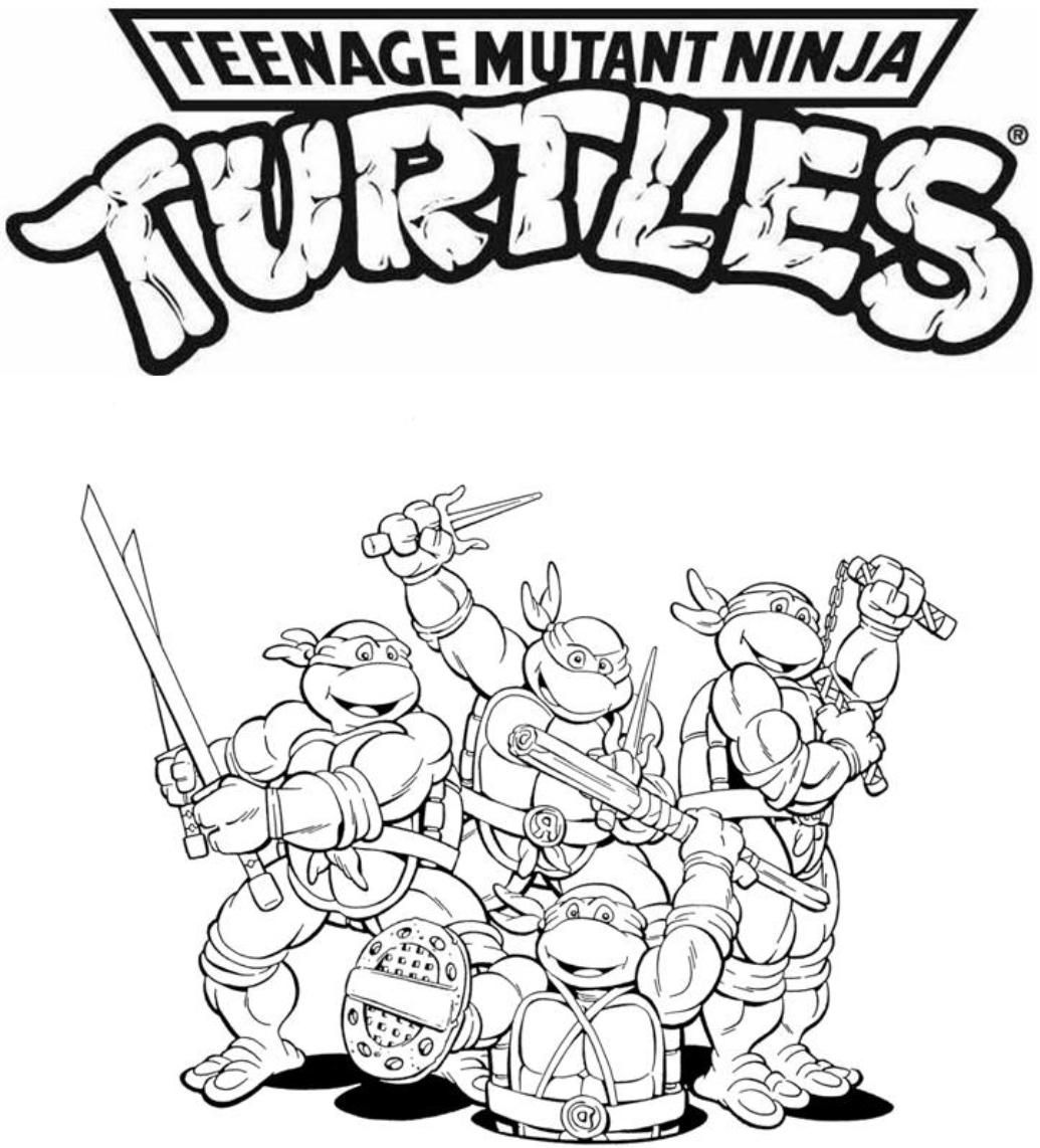 Free coloring pages ninja turtles - Age Mutant Ninja Turtles Free Online Coloring Pages High Quality