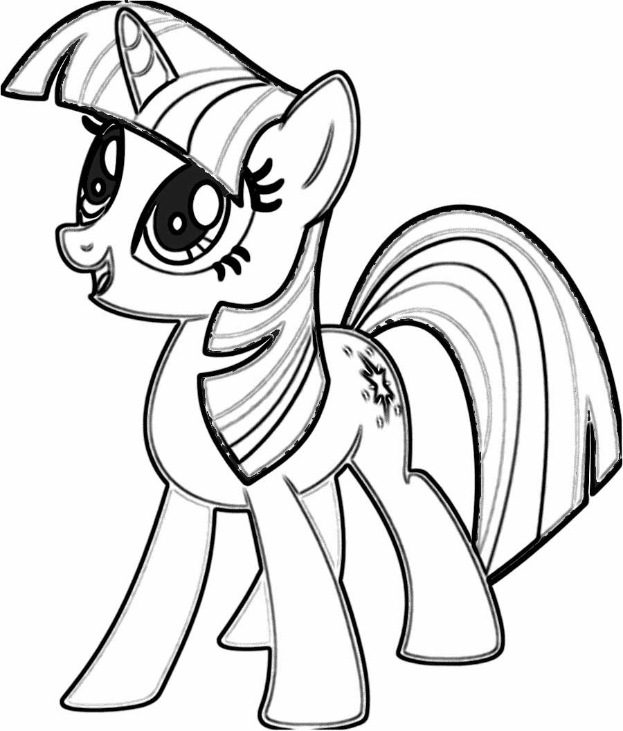 My little pony coloring pages twilight sparkle and friends for Twilight sparkle coloring page