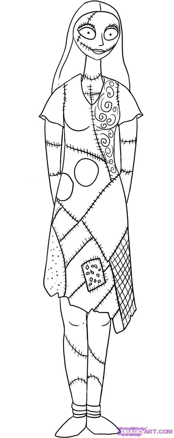 Nightmare before christmas characters coloring pages az for Tim burton coloring pages