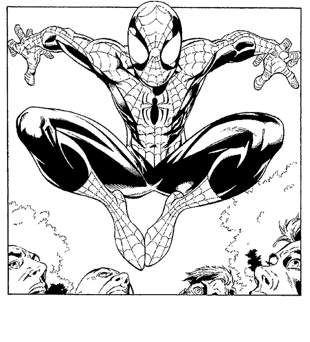 Spiderman Vs Venom Coloring Pages Printable Kids Colouring Pages