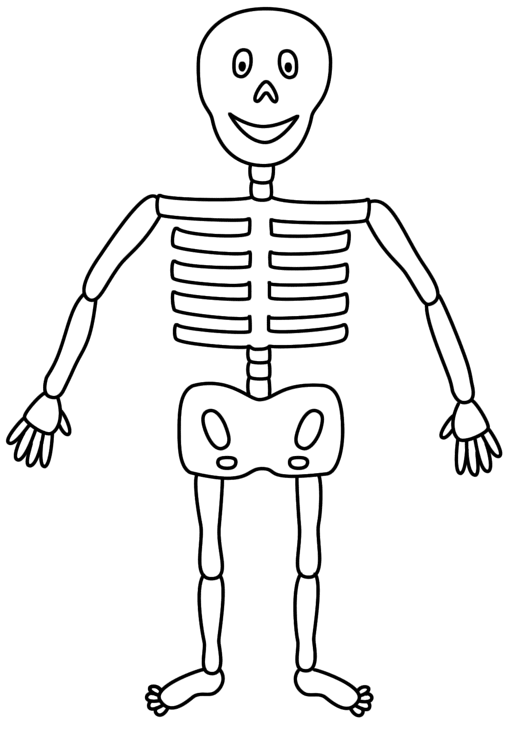 Printable Skeleton Coloring Pages Coloring Home