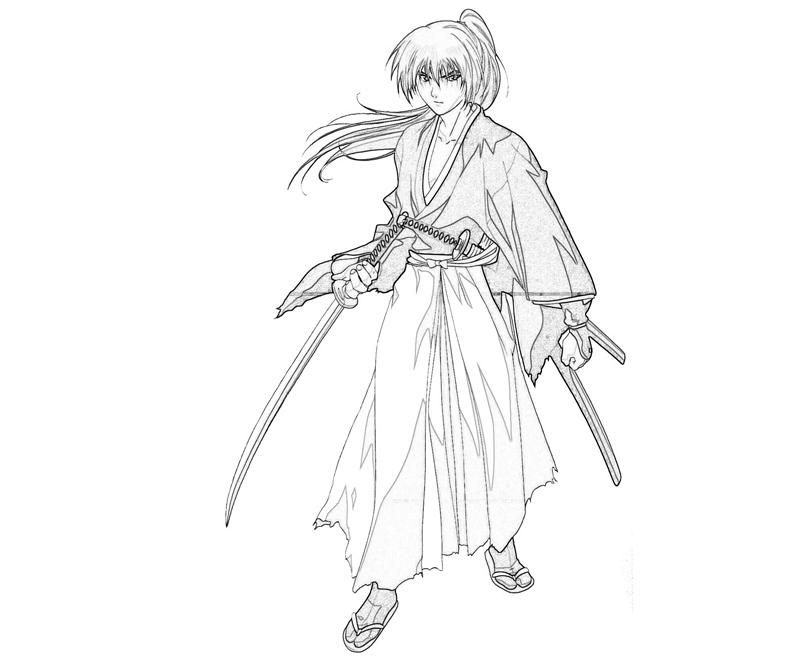 coloring pages for rurouni kenshin - photo#11