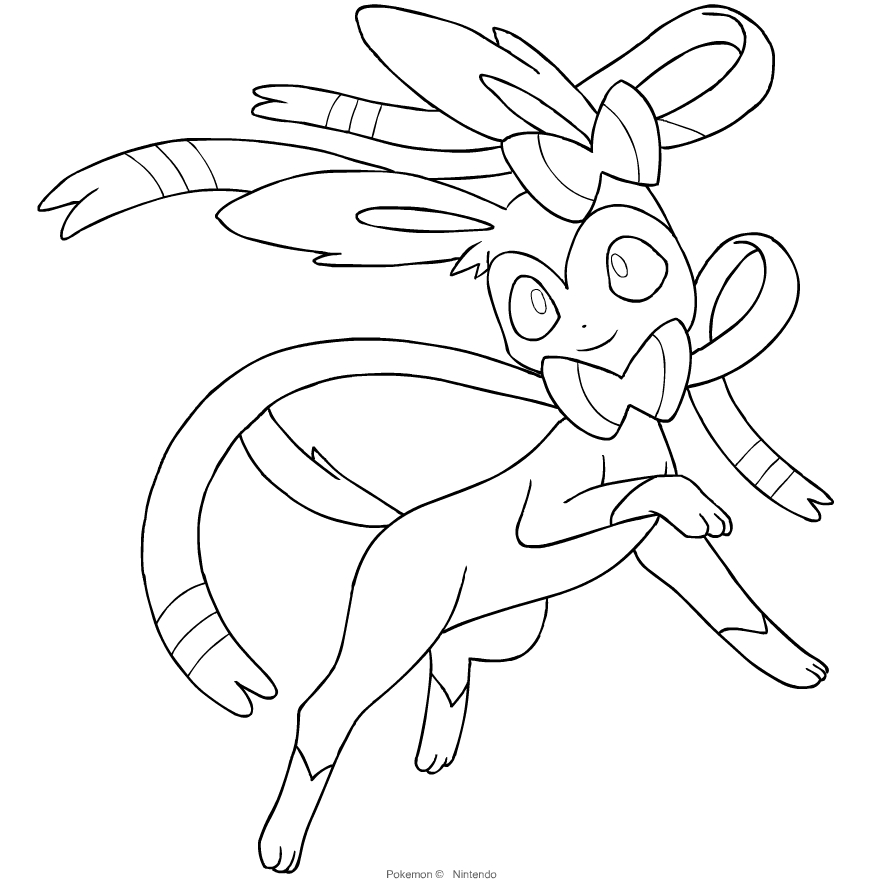 Sylveon From The Sixth Generation Of The Pokemon Coloring Page Coloring Home