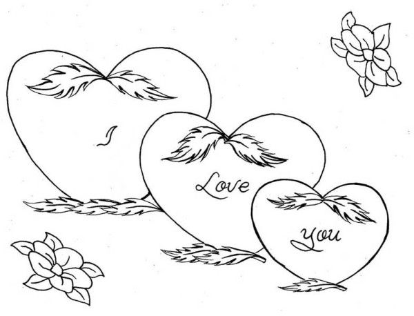 Coloring Pictures Of Hearts And