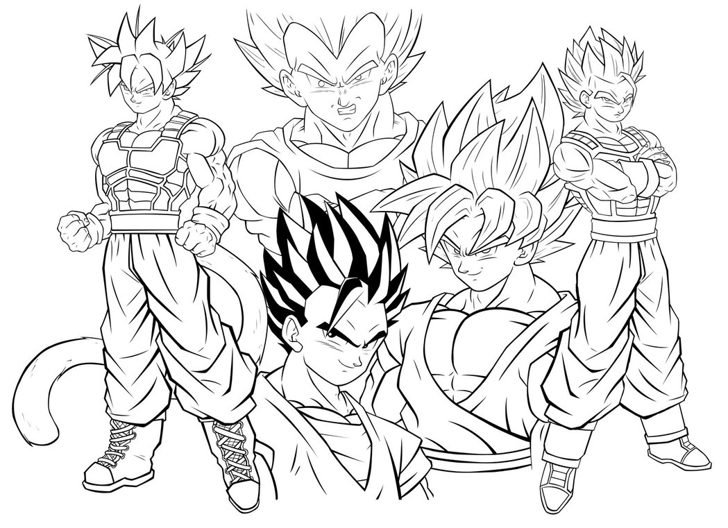 dragon ball z goku super saiyan 2 coloring pages coloring home