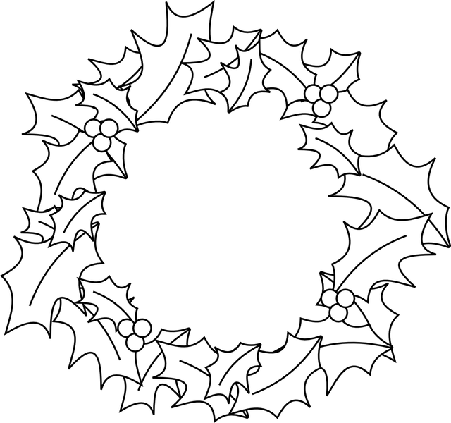 christmas holly wreath cut out clipart clipartfest