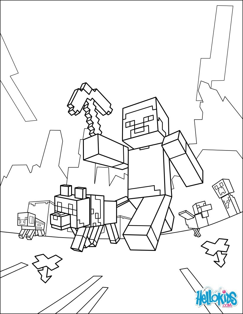 Coloring Pages Coloring Pages Minecraft Steve Outstanding Coloring Home