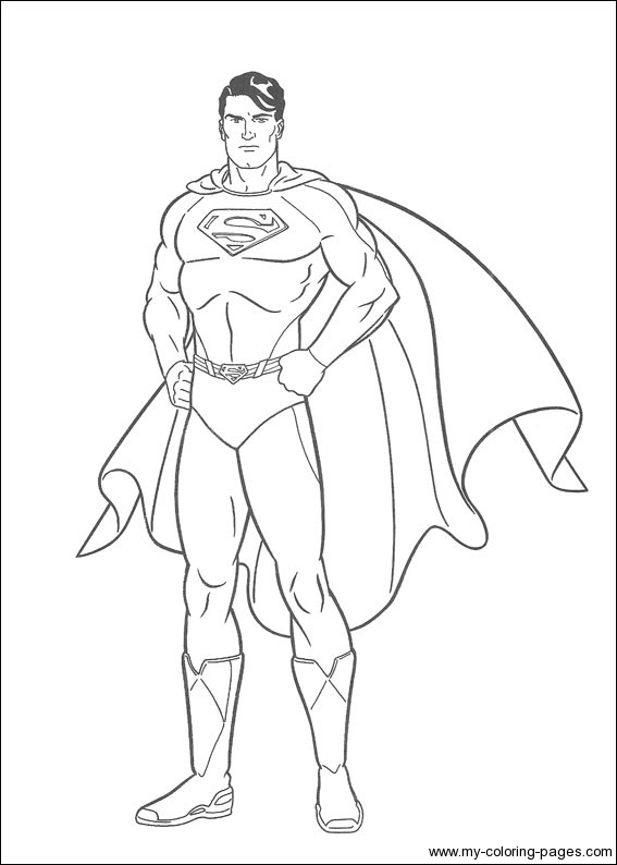 superman coloring pages kids printable free printable superman ... - Printable Superman Coloring Pages