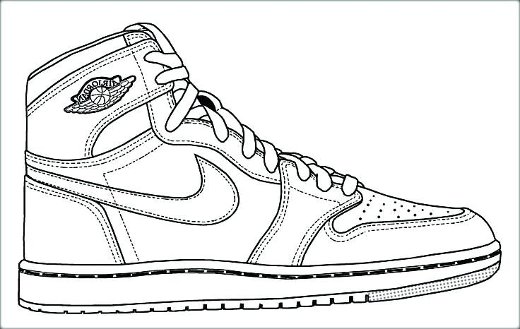 Nike Shoes Coloring Pages - Coloring Home
