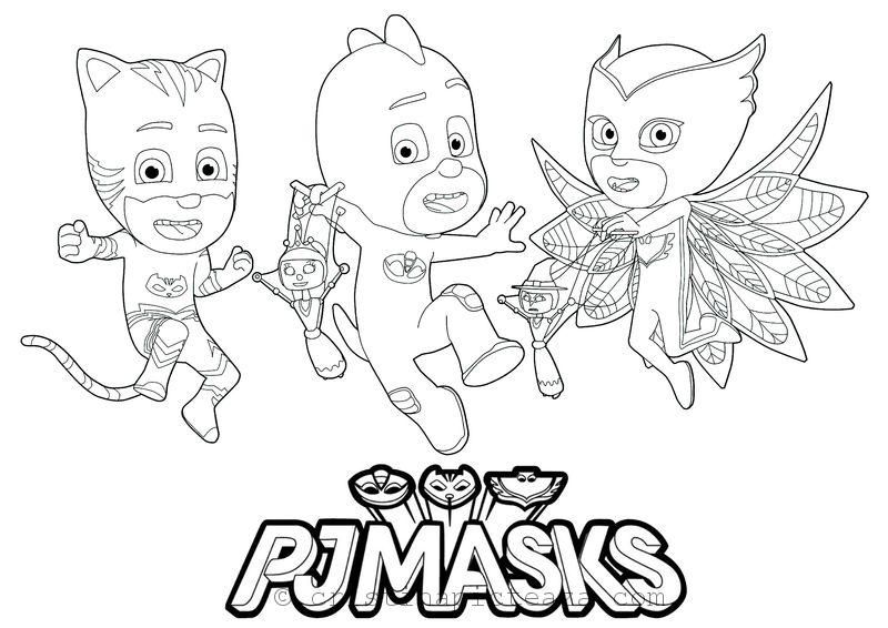 PJ Masks Coloring Pages €� Coloring Sheets With Your Heroes - Coloring Home
