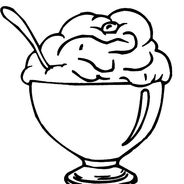 Ice Cream For Dessert Coloring Pages : Bulk Color